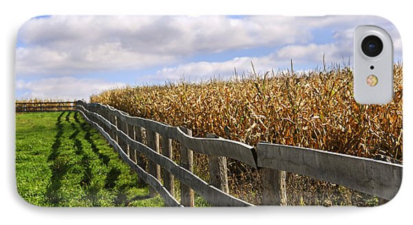 Rural Landscape With Fence IPhone Case by Elena Elisseeva