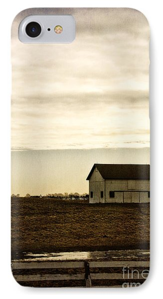 Rural Old Barn Behind Fence IPhone Case by Birgit Tyrrell