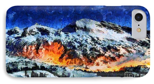 IPhone Case featuring the painting Rural Radiance  by Elizabeth Coats