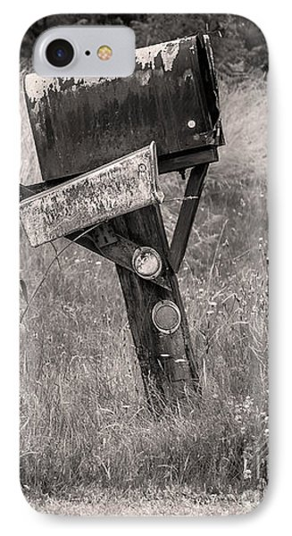 IPhone Case featuring the photograph Rural Route Mail Call  by Jean OKeeffe Macro Abundance Art