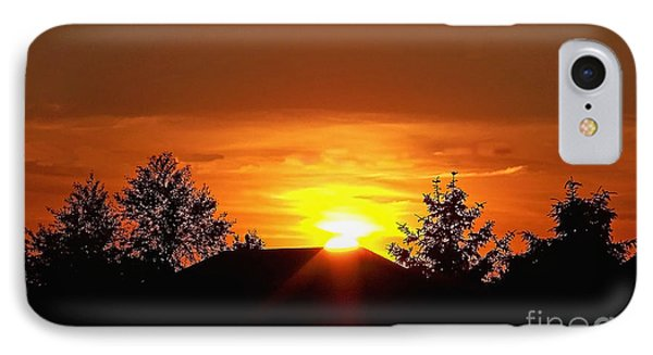 IPhone Case featuring the photograph Rural Sunset by Gena Weiser