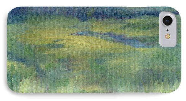 Rural Valley Landscape Colorful Original Painting Washington State Water Mountains K. Joann Russell IPhone Case