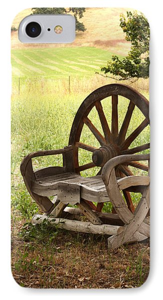 Rural Wagon Wheel Chair Phone Case by Art Block Collections