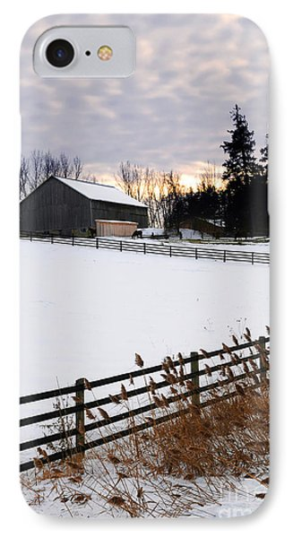 Rural Winter Landscape Phone Case by Elena Elisseeva