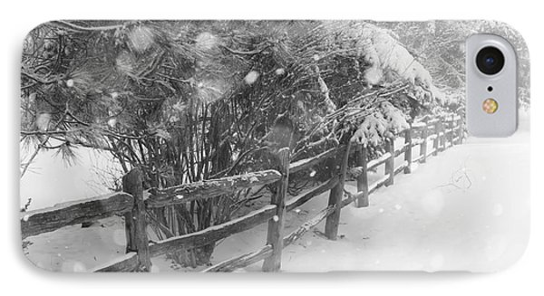Rural Winter Scene With Fence IPhone Case by Elena Elisseeva