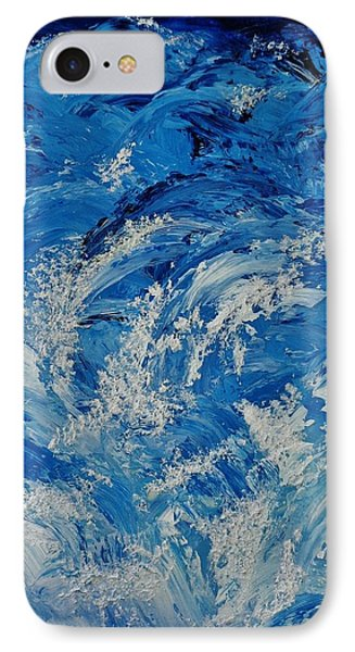 IPhone Case featuring the painting Rush by Katherine Young-Beck