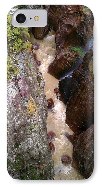 IPhone Case featuring the photograph Rushing Crevasse by Fortunate Findings Shirley Dickerson