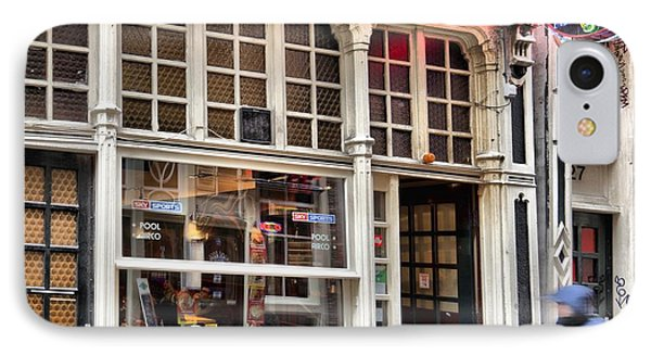 Rushing Past The Amsterdam Kafe IPhone Case