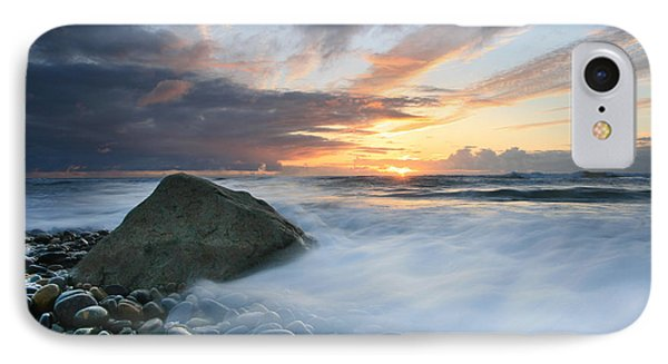 Rushing Water Sunset IPhone Case by Scott Cunningham