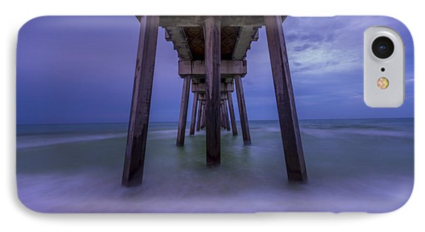 Russell Fields Pier IPhone Case by David Morefield