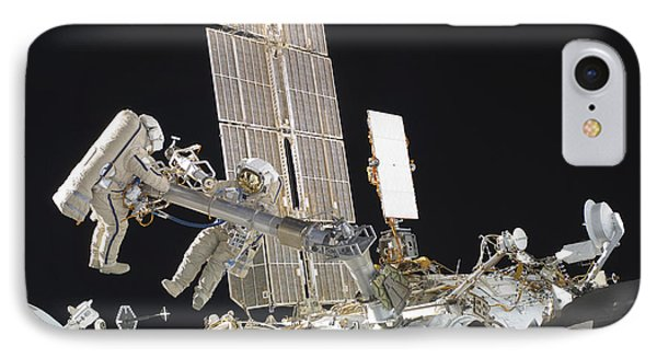 Russian Cosmonauts Working Phone Case by Stocktrek Images
