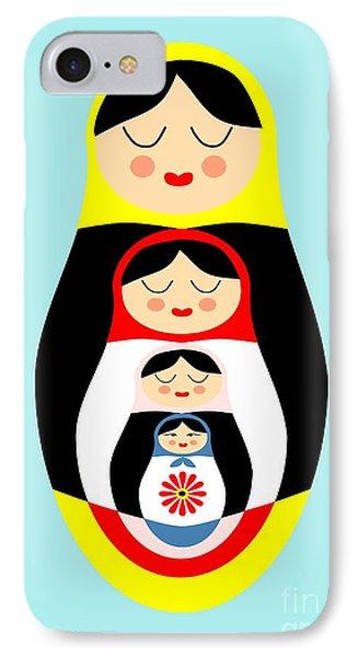 Russian Doll Matryoshka Phone Case by Patruschka Hetterschij
