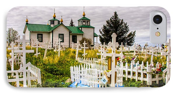 Russian Orthodox Church In Ninilchik Alaska IPhone Case by Natasha Bishop
