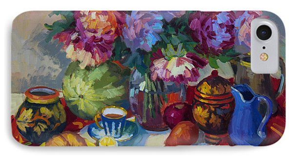 Russian Still Life IPhone Case by Diane McClary