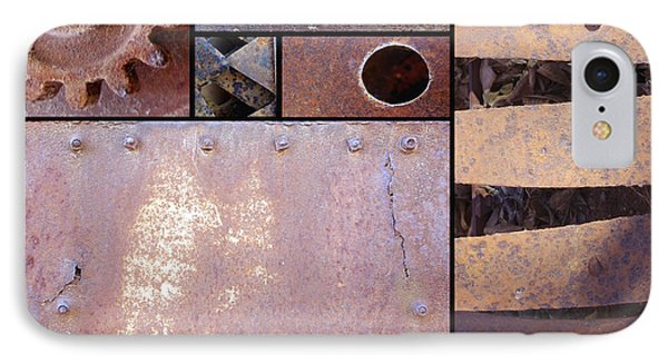 Rust And Metal Abstract  Phone Case by Ann Powell