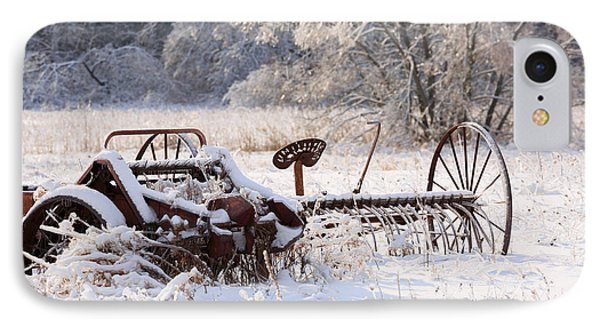 Rust And Snow IPhone Case by Louise Heusinkveld