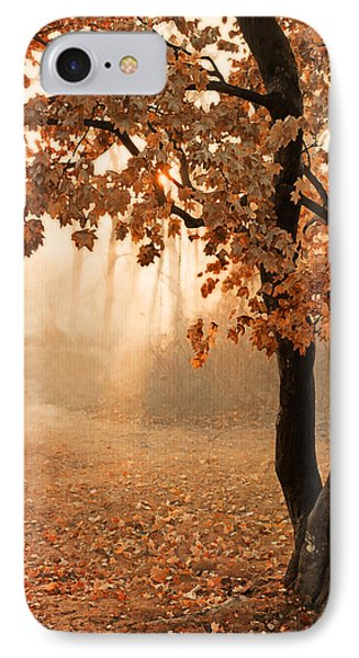 Rust Apricot Orange Maple Autumn Sunrise IPhone Case by Brooke T Ryan
