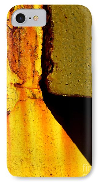 Rust With Shadows IPhone Case by Robert Riordan