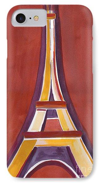 Rust Yellow Eiffel Tower IPhone Case