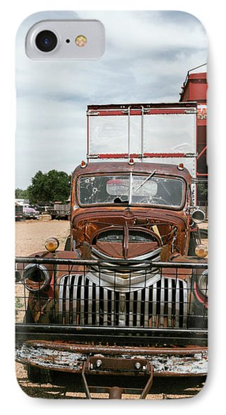 Rusted Abandoned Antique Truck IPhone Case by Julien Mcroberts