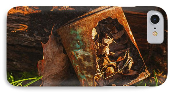Rusted Can Of Leaves Phone Case by Jack Zulli