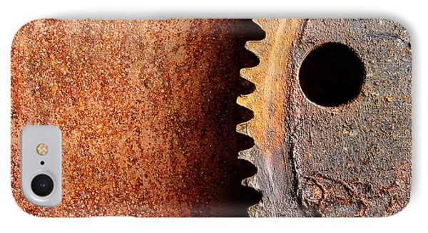 Rusted Gear Phone Case by Jim Hughes