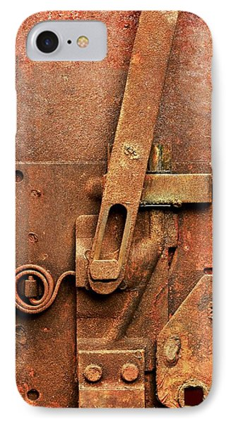 Rusted Latch IPhone Case by Jim Hughes