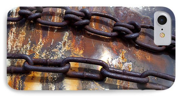 Rusted Links Phone Case by Fran Riley
