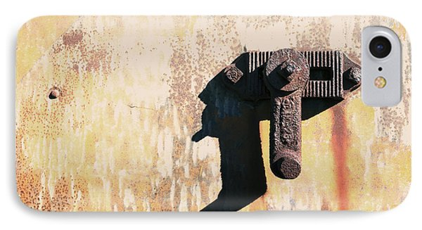 Rusted Metal Abstraction Phone Case by Ann Powell