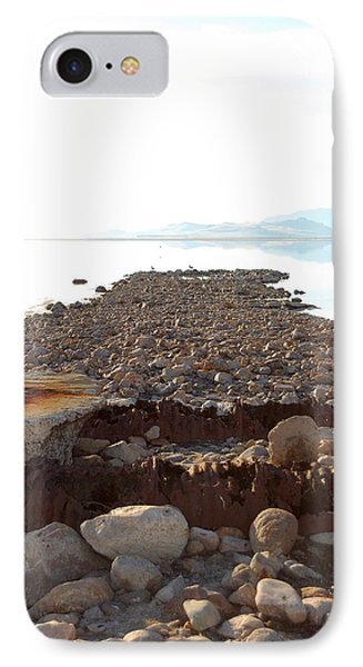 Rusted Pipe Thru Rock Path Phone Case by Holly Blunkall