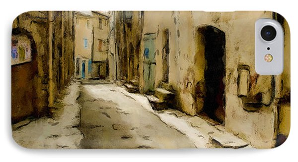 IPhone Case featuring the painting Rustic Alley by Wayne Pascall