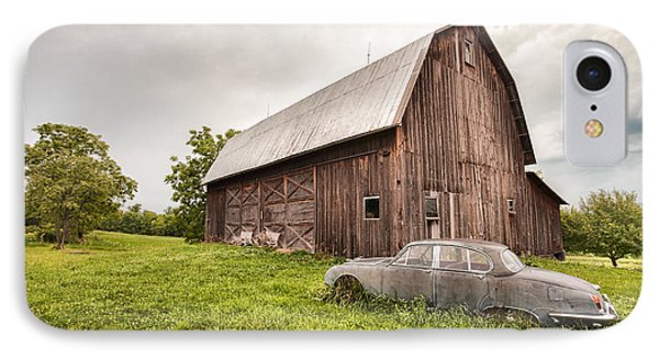 Rustic Art - Old Car And Barn Phone Case by Gary Heller