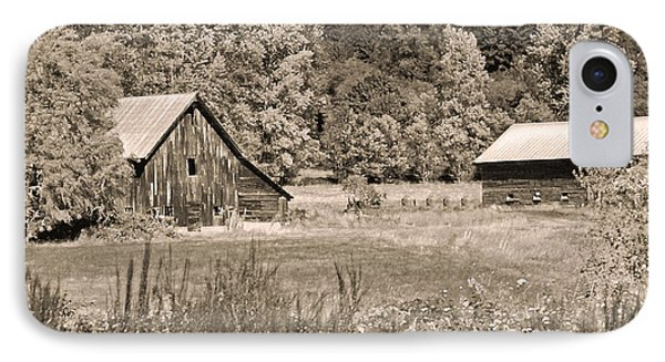 Rustic Beauty In Sepia Phone Case by Connie Fox