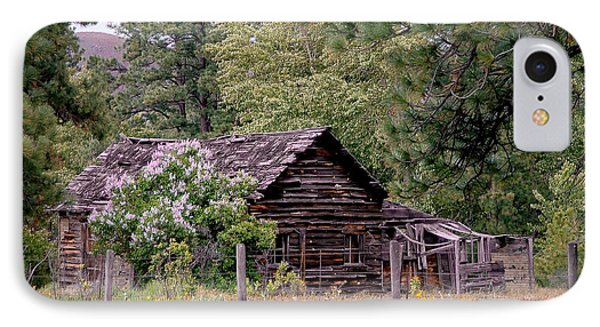 Rustic Cabin In The Mountains Phone Case by Athena Mckinzie