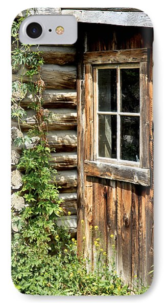 Rustic Cabin Window IPhone Case by Athena Mckinzie