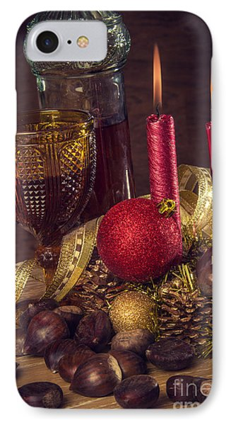 Rustic Christmas IPhone Case by Carlos Caetano