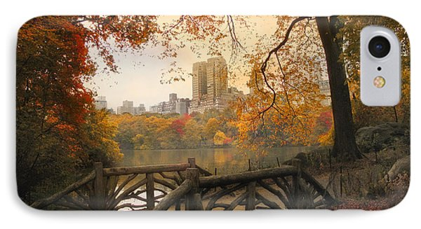 Rustic City View IPhone Case by Jessica Jenney