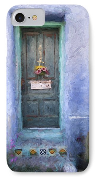 Rustic Door In Tucson Barrio Painterly Effect IPhone Case by Carol Leigh