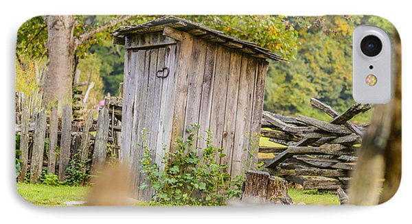 Rustic Fence And Outhouse IPhone Case