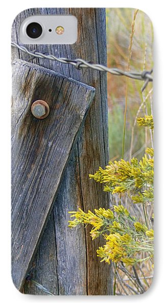 Rustic Fence And Wild Flowers Montana Phone Case by Jennie Marie Schell