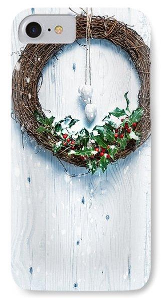 Rustic Holiday Garland IPhone Case by Amanda Elwell