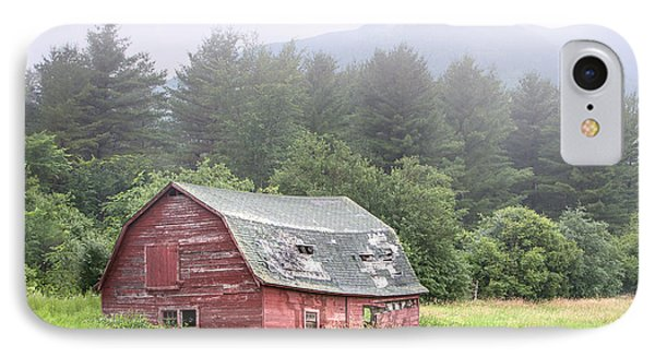 Rustic Landscape - Red Barn - Old Barn And Mountains Phone Case by Gary Heller