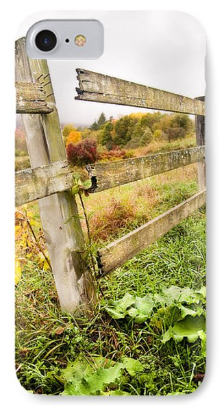 Rustic Landscapes - Broken Fence Phone Case by Gary Heller