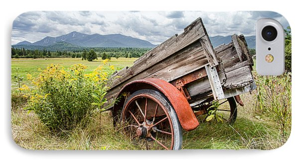 Rustic Landscapes - Wagon And Wildflowers Phone Case by Gary Heller