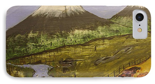 Rustic Mountain Scene Phone Case by Keith Nichols
