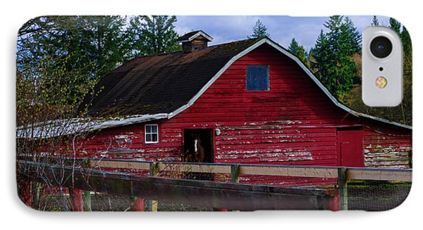 IPhone Case featuring the photograph Rustic Old Horse Barn by Jordan Blackstone
