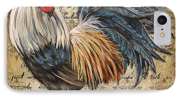 Rustic Rooster-jp2119 IPhone Case by Jean Plout