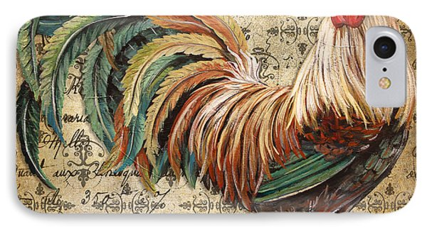 Rustic Rooster-jp2120 IPhone Case by Jean Plout