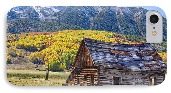 Rustic Rural Colorado Cabin Autumn Landscape Phone Case by James BO  Insogna