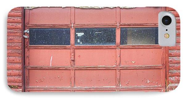 Rustic Rural Red Garage Door Phone Case by James BO  Insogna